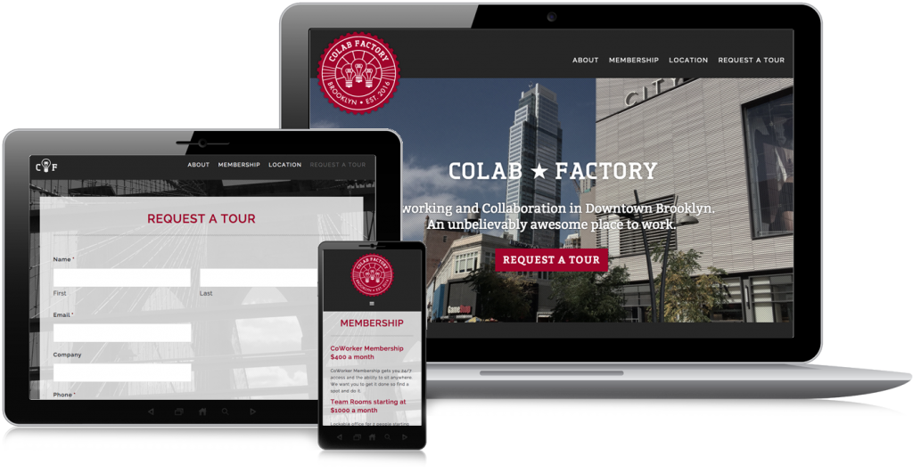 CoLab Factory Brooklyn Website Design