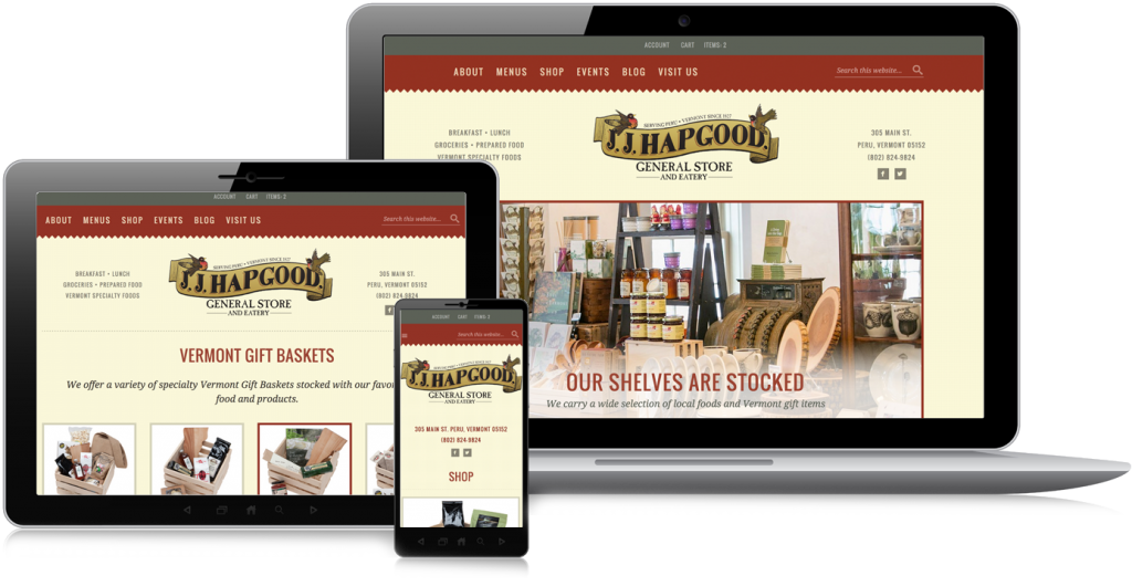 J. J. Hapgood Website Design & Development
