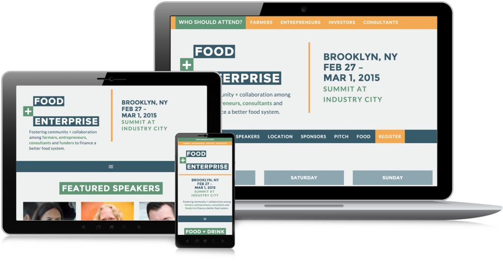 Food + Enterprise Website Design