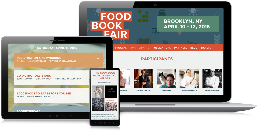 Food Book Fair Web Design