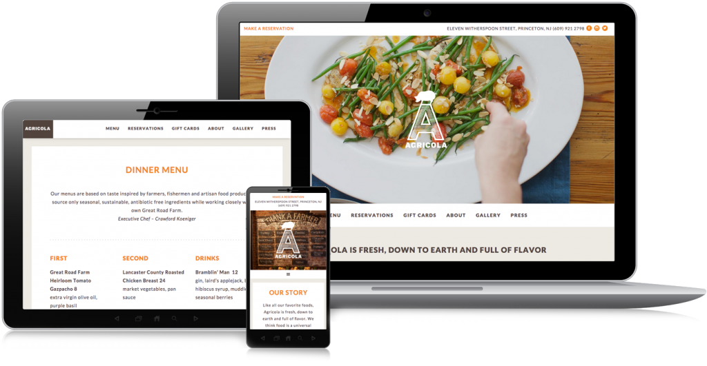 Agricola Community Eatery Web Design
