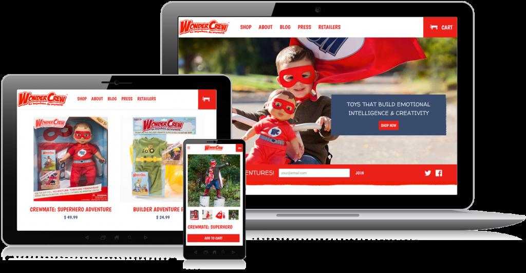 Wonder Crew Shopify Web Design